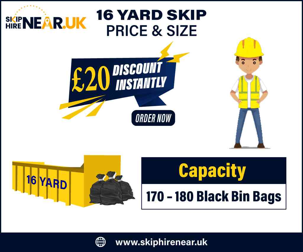 16 Yard Skip Hire Near Me