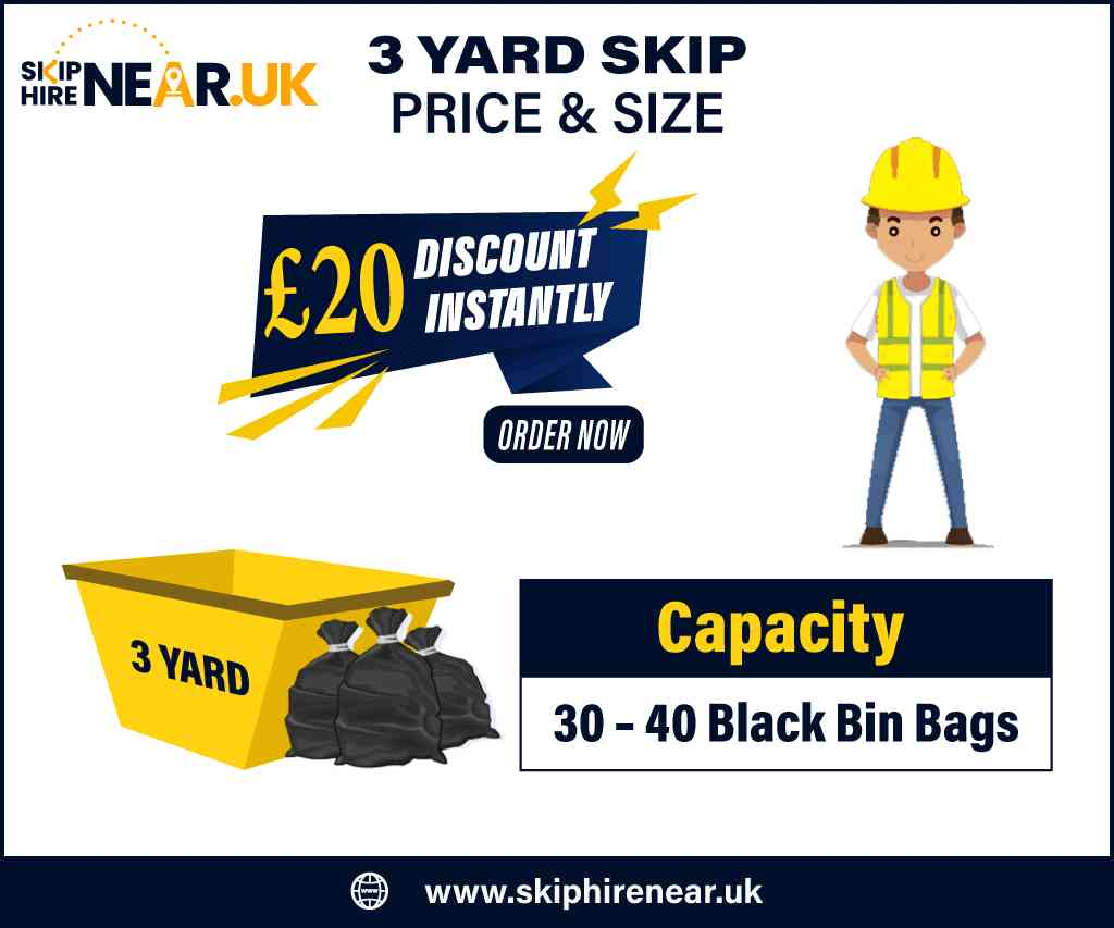 3 Yard Skip Hire Near Me